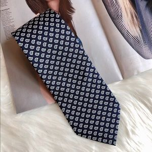Ralph Lauren Purple Label Navy Blue Silk Necktie